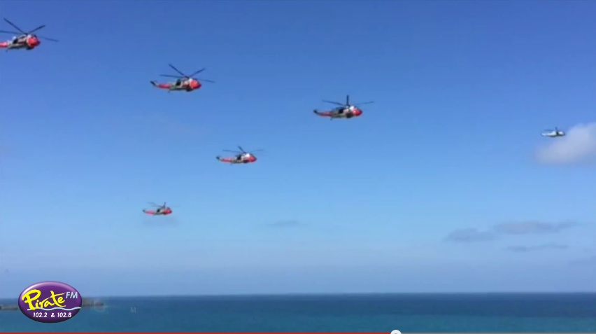 Sea Kings Flypast Newquay Bay
